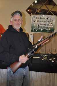 Gun Wall Winner, Dan Moser, Lincoln, NE - Henry .22 cal, silver.