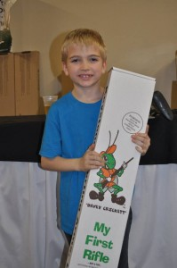 FREE Youth Raffle Winner, Henry Weverka, Omaha, NE - Cricket Rifle .22