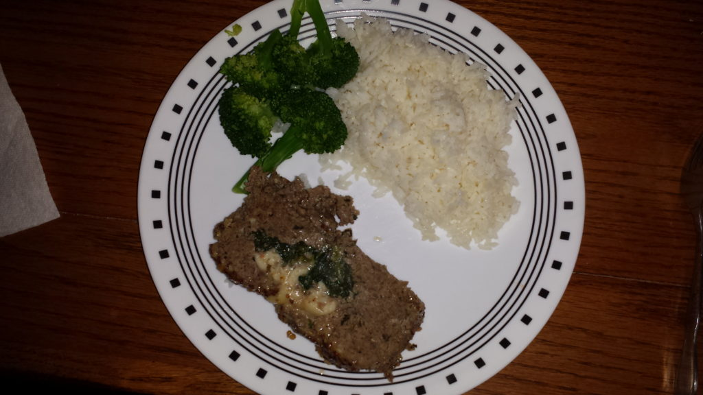 meatloaf spinach provolone